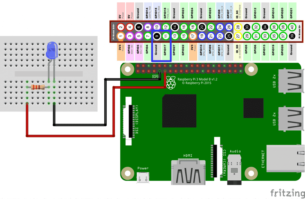 Circuito LED com Raspberry Pi